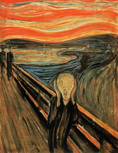 1893 --- The Scream by Edvard Munch --- Image by � Burstein Collection/CORBIS